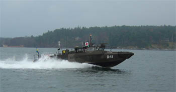 Marine Ambulance undergoes trials within the Royal Swedish Navy