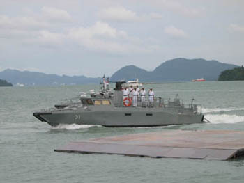 Photo: Royal Malaysian Navy CB 90 with Lemur weapon platform on top