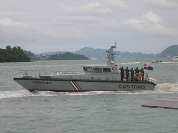 Photo: Royal Malaysian Customs IC 16 M march past