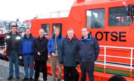 GL, FMN and Shipyard representatives at delivery