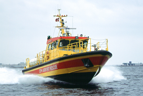 Rescue Boat to Copenhagen Airport September 2001
